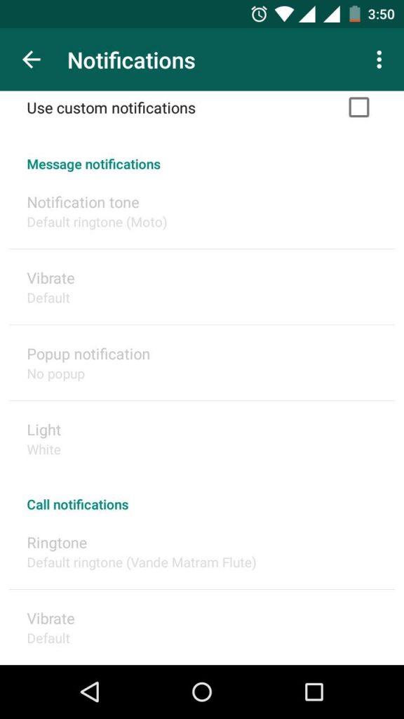 WhatsApp New Notification Settings